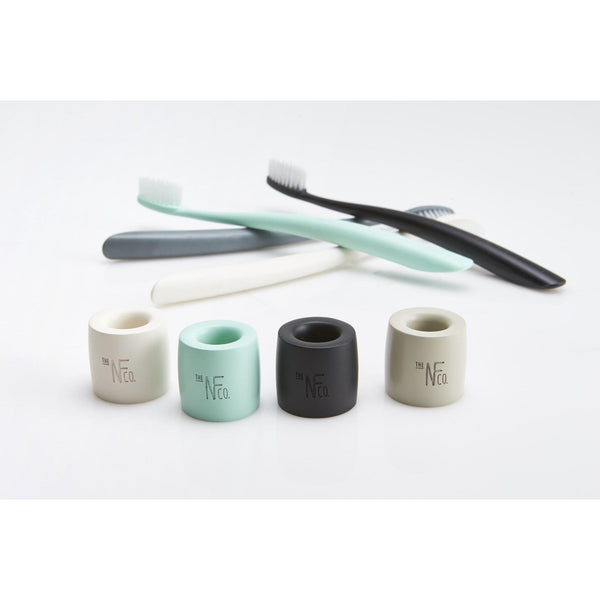 The Natural Family Co Bio Toothbrush & Stand - The Vegan Town