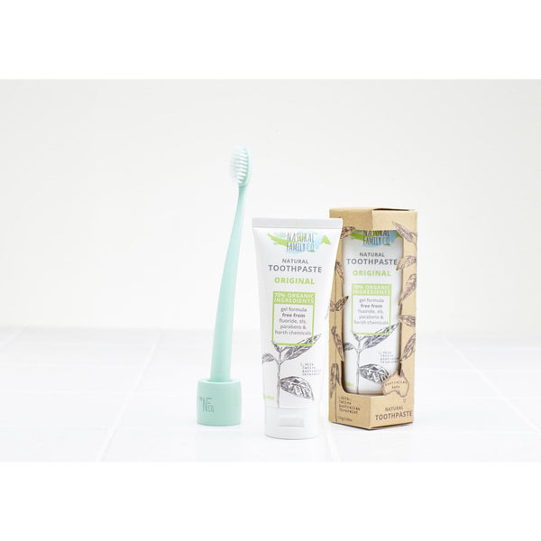 The Natural Family Co Bio Toothbrush & Stand