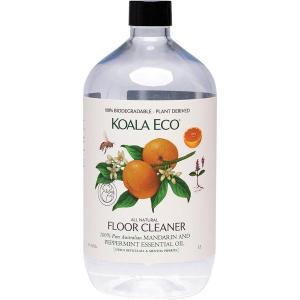 Koala Eco Floor Cleaner Mandarin & Peppermint 1lt - The Vegan Town