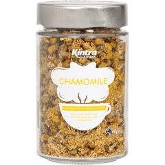 Kintra Foods Loose Leaf Tea Chamomile 40g in a glass jar | Online Vegan Store | The Vegan Town