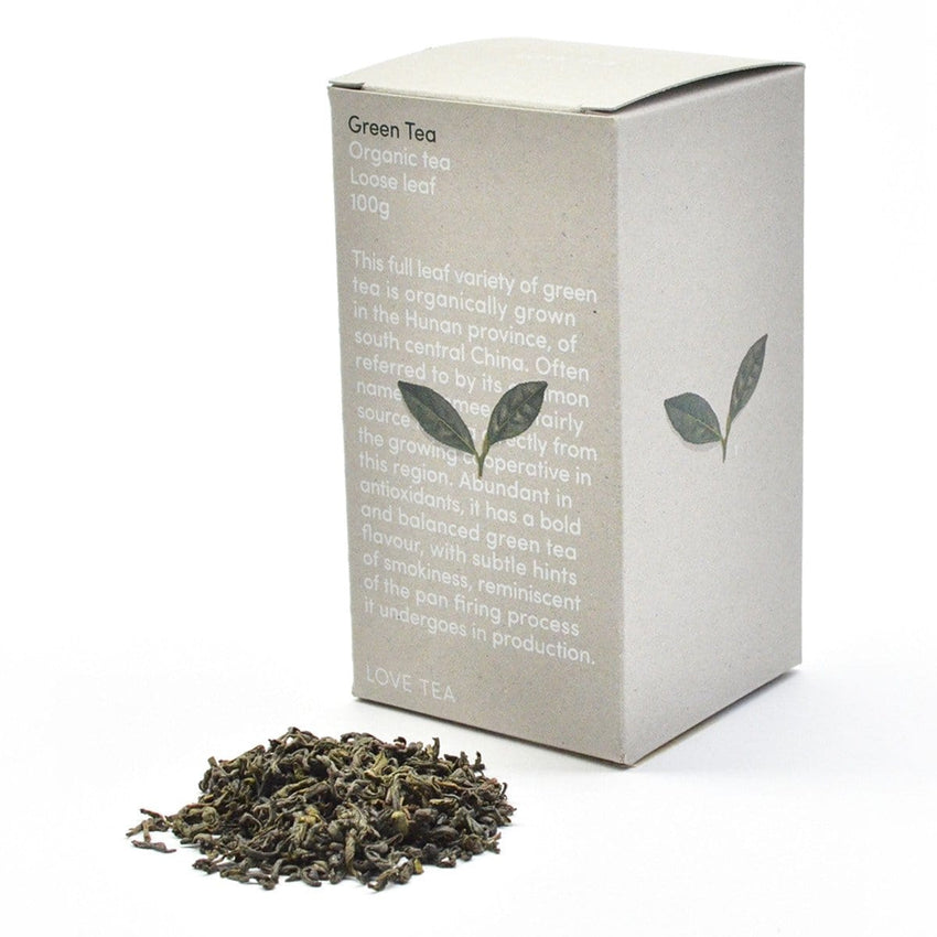 Love Tea Organic Green Tea Loose Leaf 100g - The Vegan Town