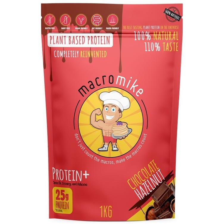 Macro Mike Plant Based Protein Chocolate Hazelnut 1kg | The Vegan Town