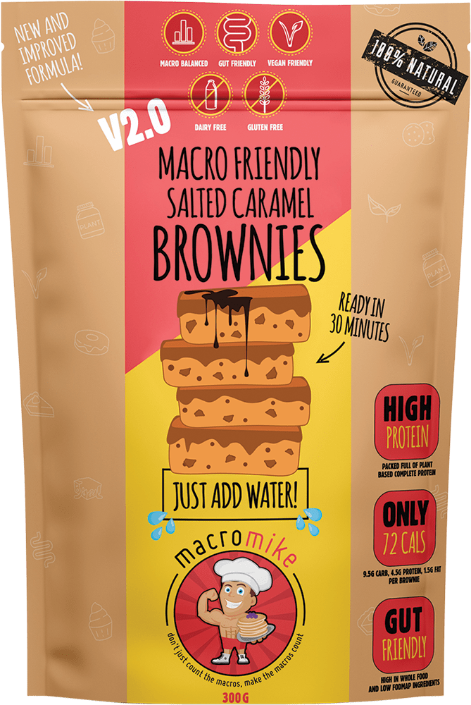 Macro Mike Macro Friendly Brownies Salted Caramel 300g