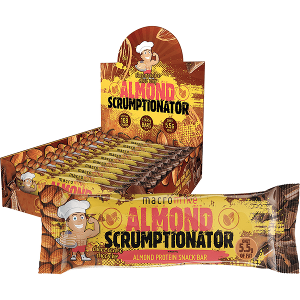 Macro Mike Almond Scrumptionator Protein Bar Cheezecake Choc Chip 45g | Vegan Food Online | The Vegan Town