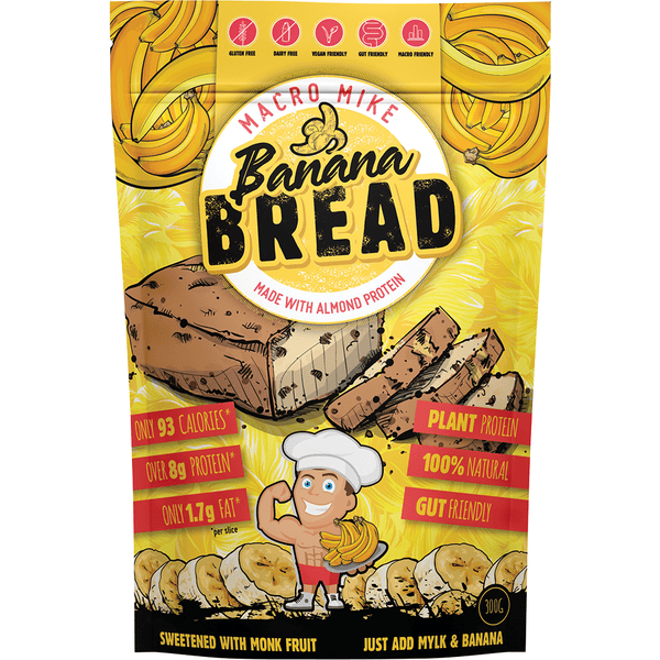 Macro Mike Almond Protein Bread Baking Mix Banana Bread 300g | Vegan Food Online | Vegan Store Online