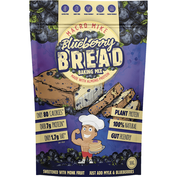Macro Mike Blueberry Bread Baking Mix | Vegan Food Online | Online Vegan Store