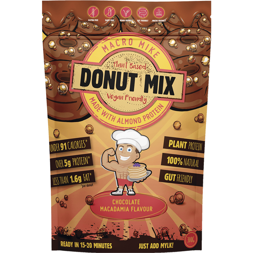Macro Mike Donut Baking Mix Chocolate Macadamia Flavour 300g | Vegan Food Online | Vegan Online Store