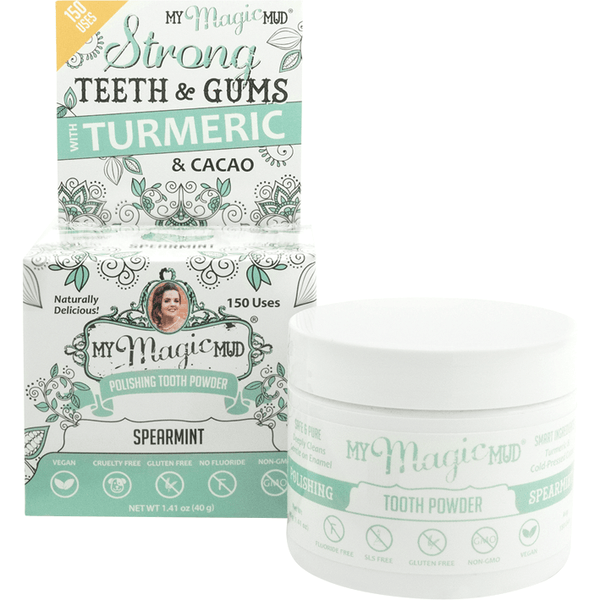 My Magic Mud Polishing Tooth Powder - variety of flavours available 40g - The Vegan Town