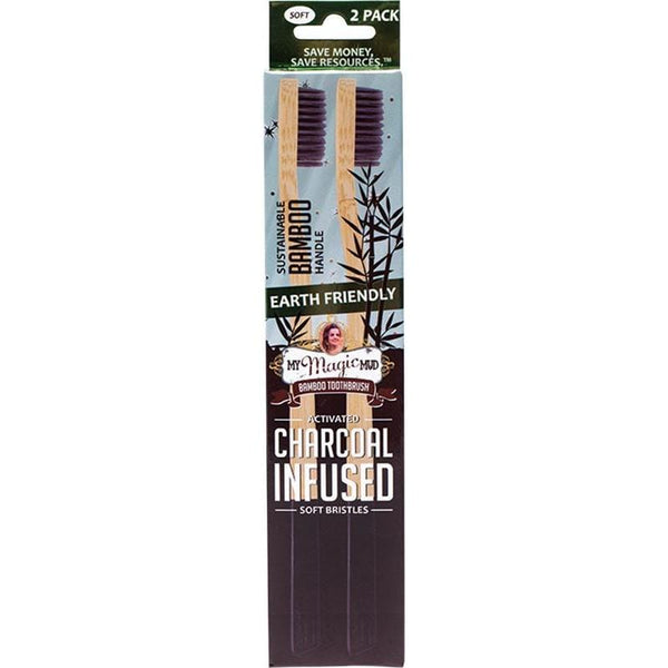 My Magic Mud Bamboo Charcoal Toothbrush - 2 Pack - The Vegan Town