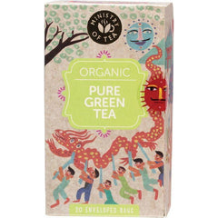 Ministry of Tea Herbal Pure Organic Green Tea x20 Tea Bags in box - Vegan Green Tea | The Vegan Town
