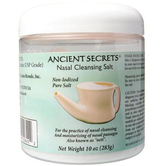 Ancient Secrets Nasal Cleansing Salts for the Neti Pot 283g - The Vegan Town