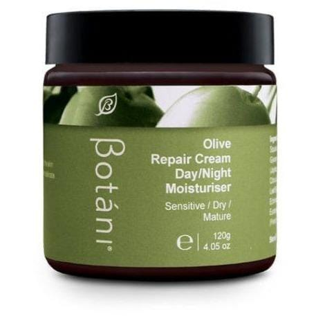 Botani Olive Repair Cream Day/Night Moisturiser (Sensitive/Dry/Mature) 120ml - Vegan Skincare - The Vegan Town