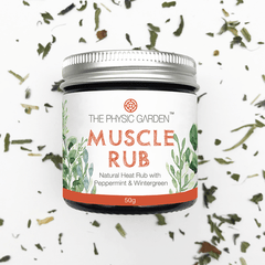 Physic Garden Muscle Rub - in various sizes