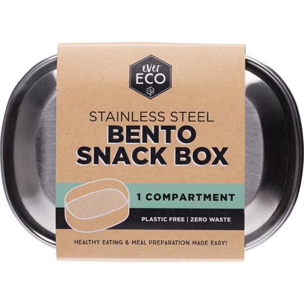 Ever Eco Stainless Steel Bento Snack Box - 1 Compartment - The Vegan Town