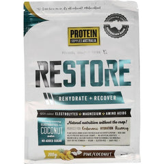 Protein Supplies Aust. Restore Hydration Recovery Drink 200g - in various flavours - The Vegan Town