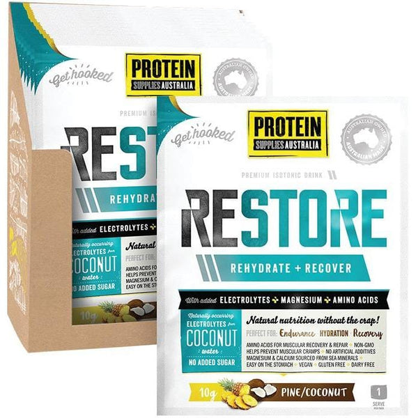 Protein Supplies Aust. Restore Hydration Recovery Drink 10g - in various flavours