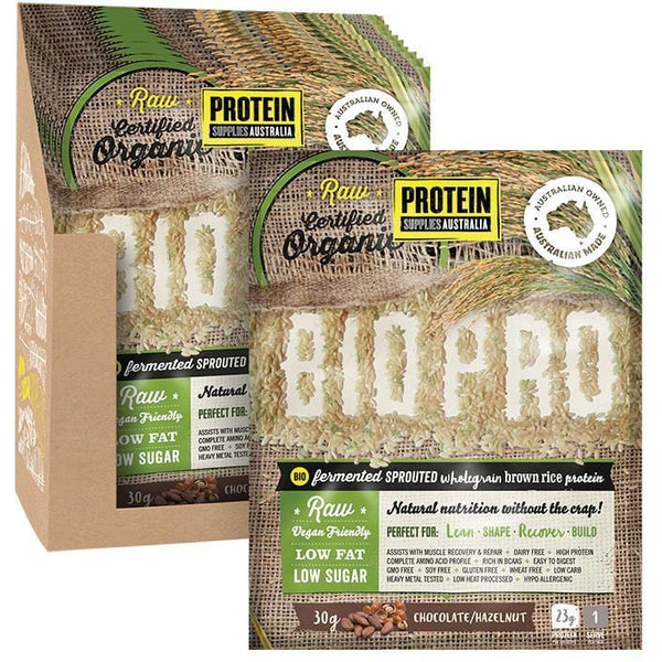 Protein Supplies Aust. BioPro (Sprouted Brown Rice) Chocolate & Hazelnut - various sizes available - The Vegan Town