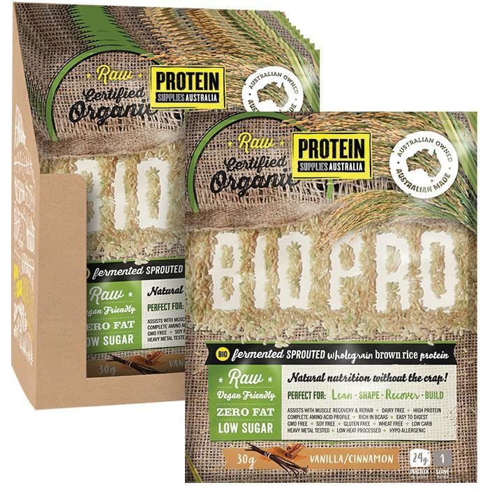 Protein Supplies Aust. BioPro (Sprouted Brown Rice) Vanilla & Cinnamon - various sizes available - The Vegan Town
