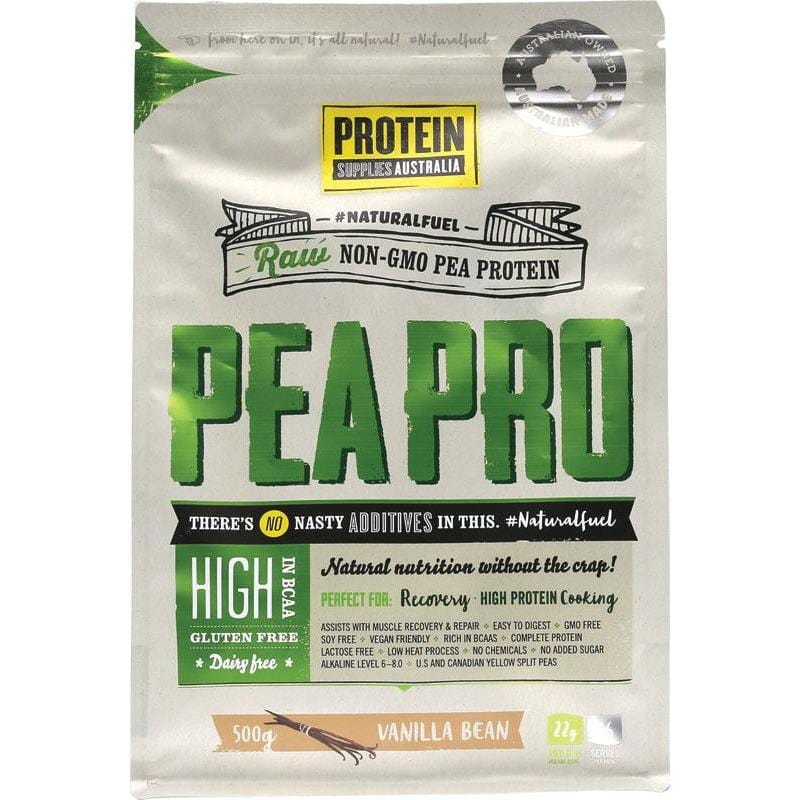 Protein Supplies Aust. PeaPro (Raw Pea Protein) Vanilla Bean - in various sizes - The Vegan Town