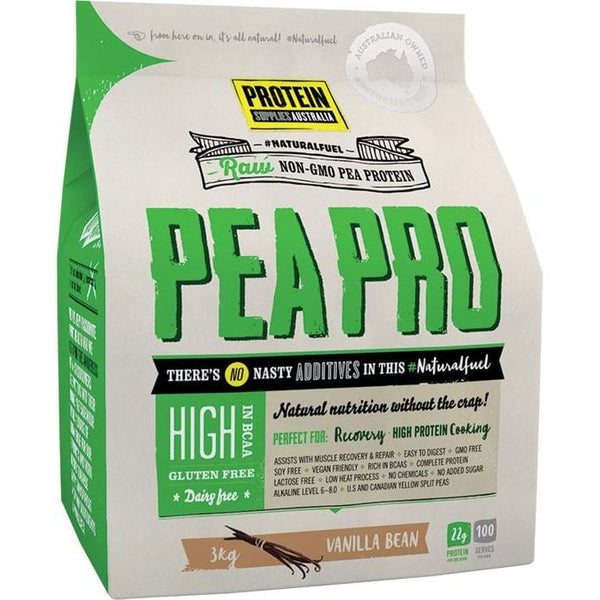 Protein Supplies Aust. PeaPro (Raw Pea Protein) Vanilla Bean - in various sizes