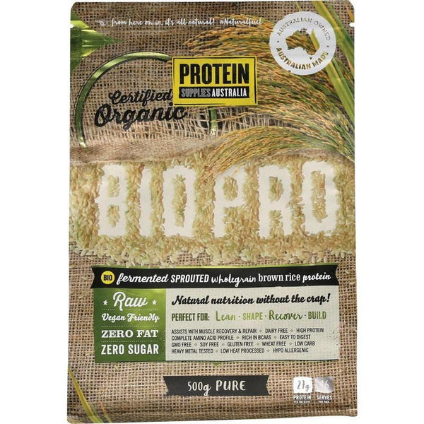 Protein Supplies Aust. BioPro (Sprouted Brown Rice) PURE - various sizes available - The Vegan Town