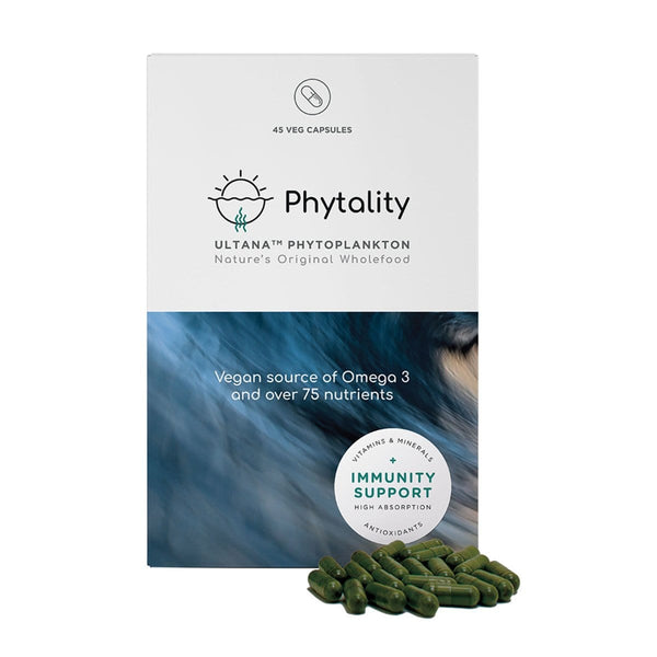 Phytality Nutrition Ultana Phytoplankton 45 Vegan Capsules | Vegan Supplement | The Vegan Town