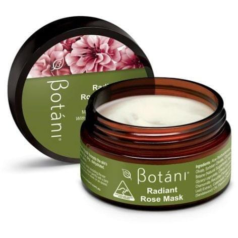 Botani Radiant Rose Mask 100g - Vegan Skincare - The Vegan Town