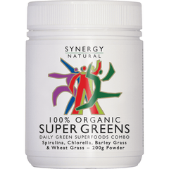 Synergy Organic Super Greens Powder 200g | Vegan Online Store
