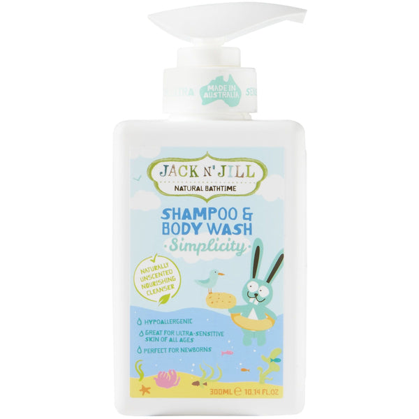 Jack N' Jill 300ml Simplicity Natural Shampoo & Body Wash - The Vegan Town