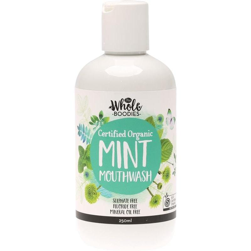 The Whole Boodies Fluoride Free Mouthwash - Mint 250ml - The Vegan Town