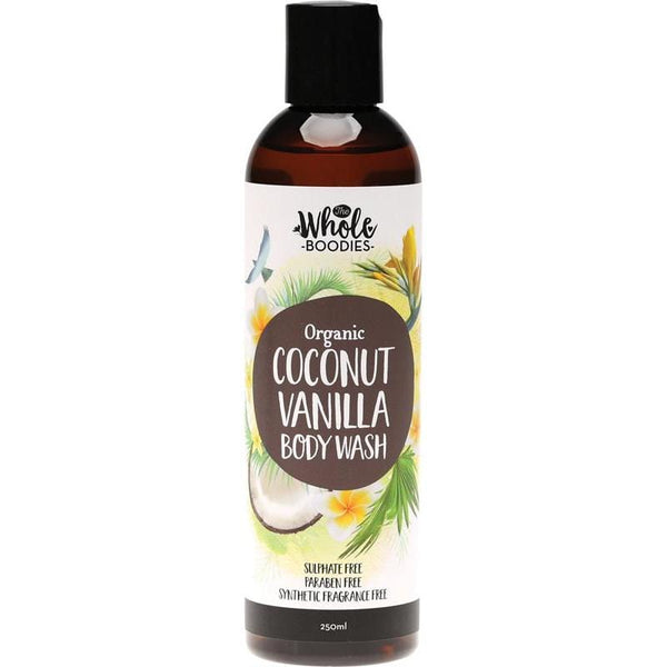 The Whole Boodies Coconut Vanilla Body Wash 250ml