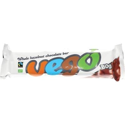 Vego Whole Hazelnut Chocolate Bar 150g - The Vegan Town