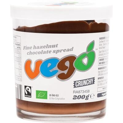 Vego Crunchy Hazelnut Chocolate Spread 200g - The Vegan Town