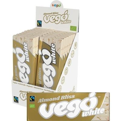 Vego White Chocolate Bar 50g x 18 Bars of Almond Bliss - The Vegan Town