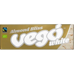 Vego White Chocolate Bar 50g x 18 Bars of Almond Bliss