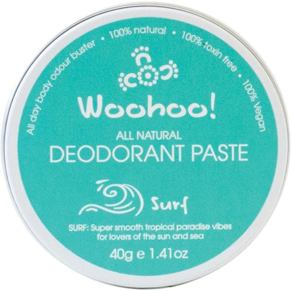 Woohoo Body Surf Travel Sized Deodorant Paste 40g - The Vegan Town