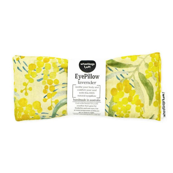 Wheatbags Love Eye Pillow Wattle Yellow Design | Online Vegan Store | The Vegan Town