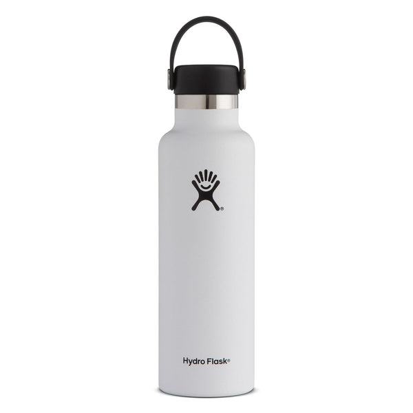 Hydro Flask Standard Mouth Bottle - Flex Cap 621ml White | Eco Products Online | Online Vegan Store