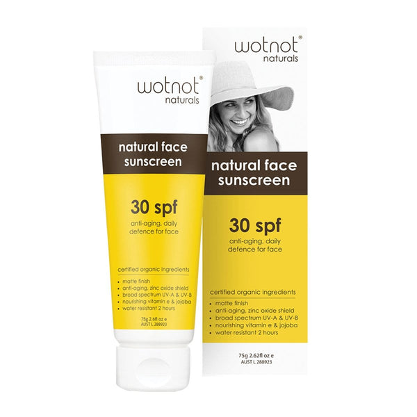 Wotnot Natural Face Sunscreen SPF 30 (Anti-Aging Daily Defence) 75g