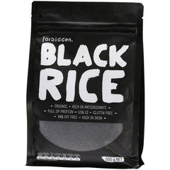 Forbidden Black Rice 98% Fat Free - Low G.I. 500g - The Vegan Town