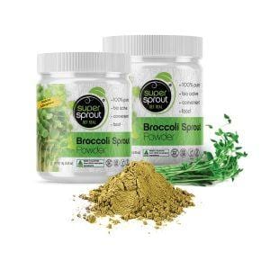 Super Sprout Broccoli Sprout Powder in two sizes 70g and 135g - The Vegan Town