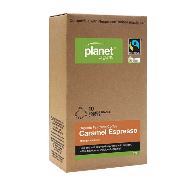Planet Organic Organic Coffee Capsules Espresso - various flavours - The Vegan Town