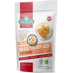 Orgran No Egg Replacer Mix 200g Pouch front of packet