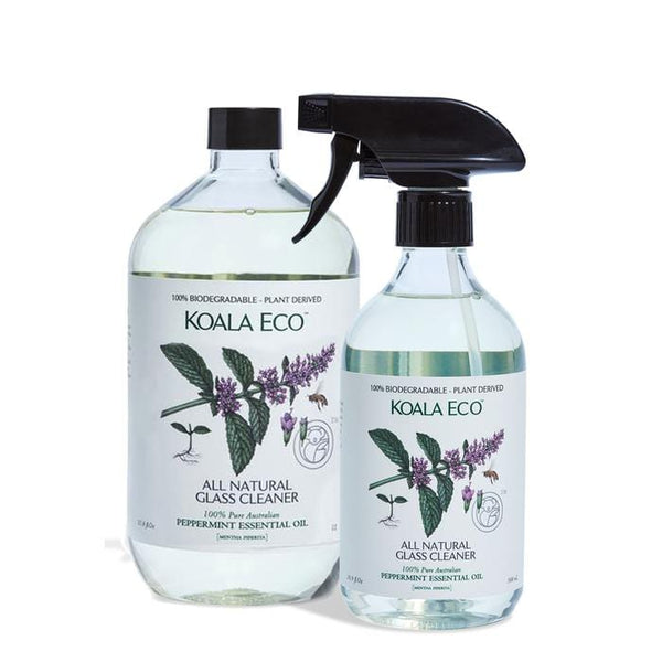 Koala Eco Glass Cleaner Peppermint Essential Oil 1lt - The Vegan Town