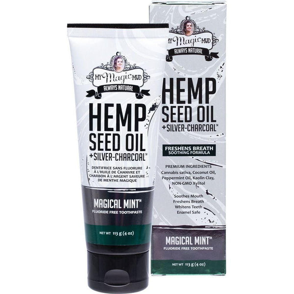 My Magic Mud Silver Charcoal Toothpaste With Hemp Oil - Magical Mint 113g