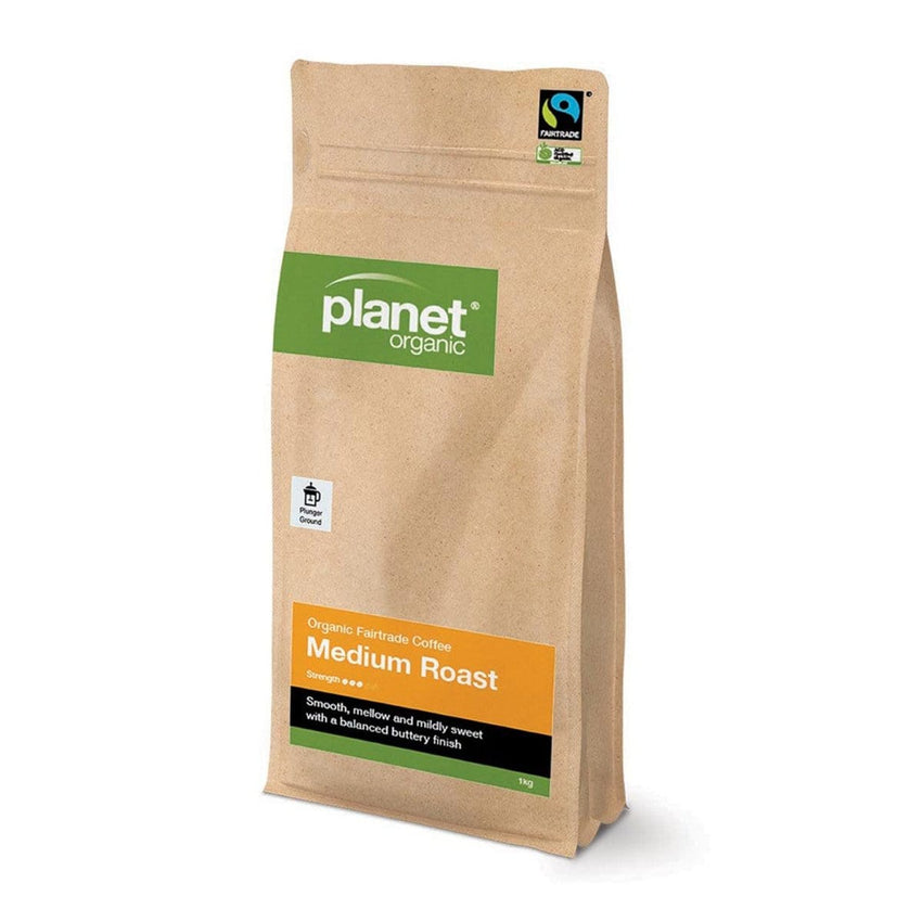 Planet Organic Plunger Ground Coffee 1kg - The Vegan Town