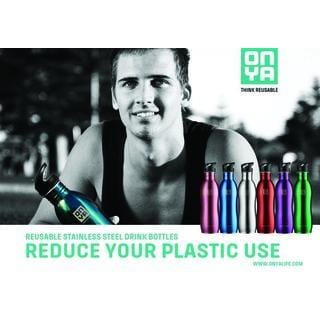 Onya Reusable Stainless Steel Water Bottle 750ml in a range of colours