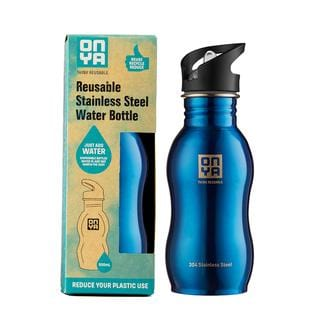 Onya Reusable Stainless Steel Water Bottle 500ml in a range of colours