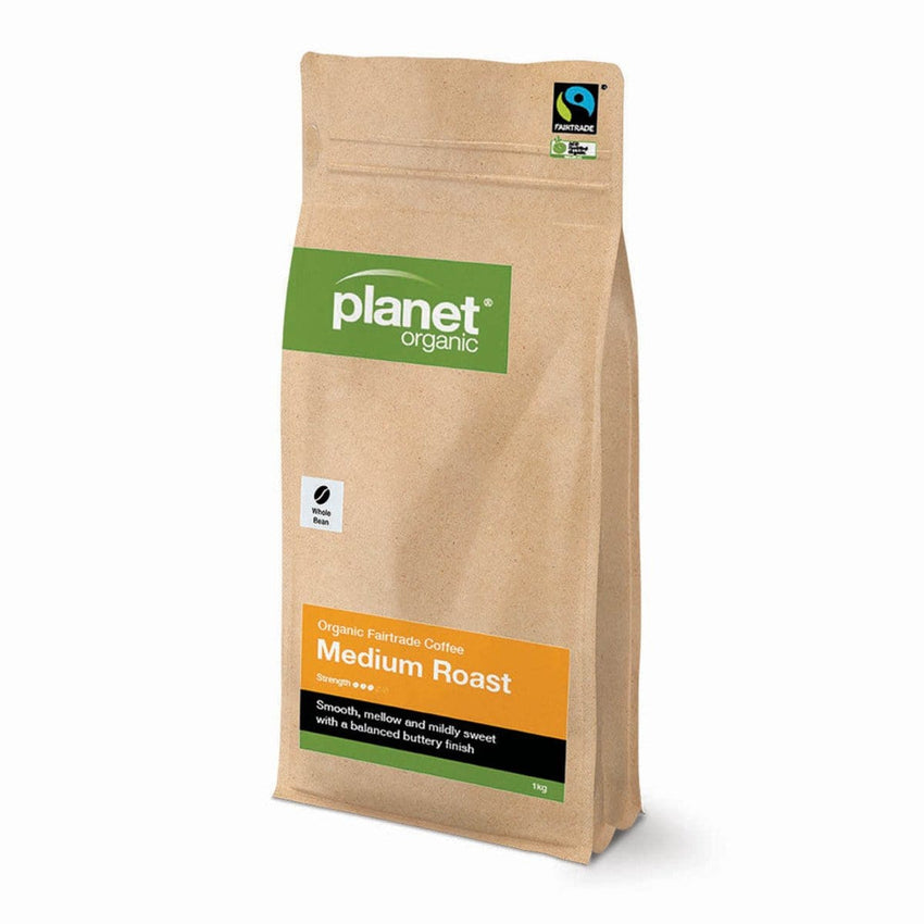 Planet Organic Organic Coffee Whole Bean 1kg - various flavours - The Vegan Town