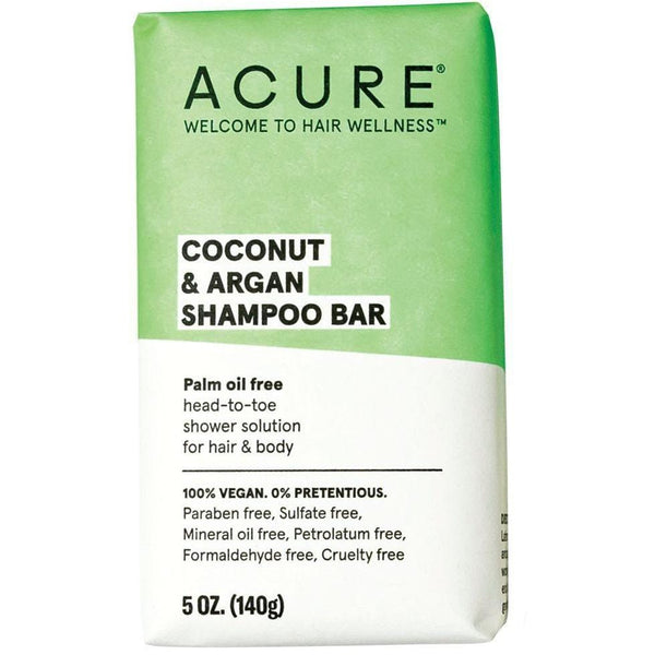 Acure Coconut & Argan Shampoo Bar 140g - vegan hair products